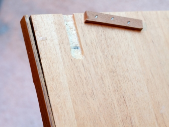Damaged drawer, back